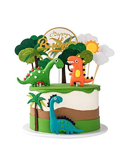 Dinosaurier Geburtstag Kuchen Dinosaurier Kuchenaufsatz Tortendeko Kuchen Topper für Kinder Junge