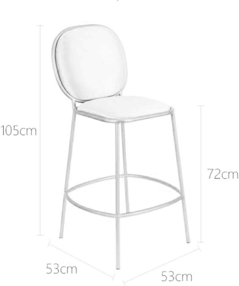 KAI LE Tabouret de Bar/Chaise de Bar/Chaise de Bar Minimaliste Moderne Chaise de Dossier en Fer forgé créative (Couleur : Sky Blue) Pink