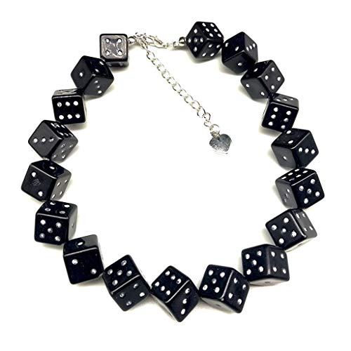 Wanghuaner Colorful Acrylic Dice Beads Stretch Choker Funny Game Lucky Dice Necklace Women
