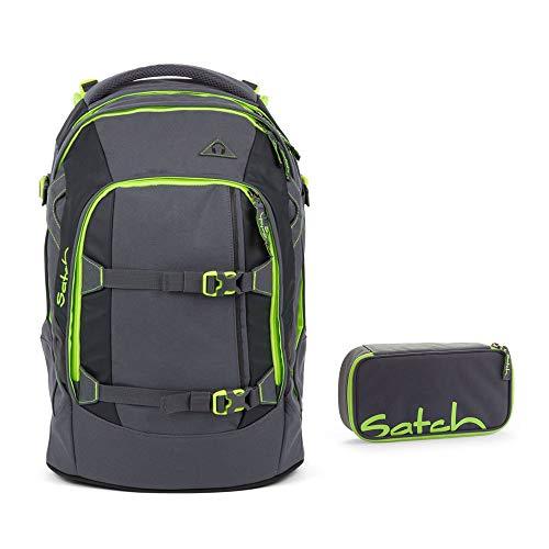 Satch–Zaino da scuola, Set di 2Pack Phantom 802verde/grigio