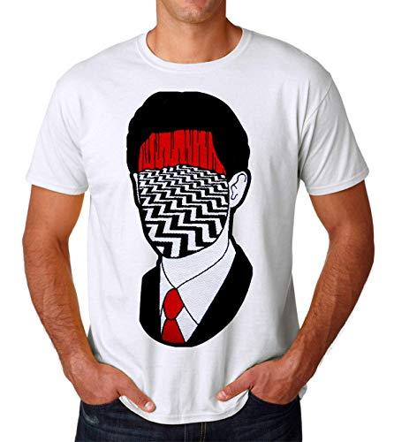 Twin Peaks TV Show Series Dale Cooper Head Red Room Art Drawn Men's T-Shirt Herren Medium