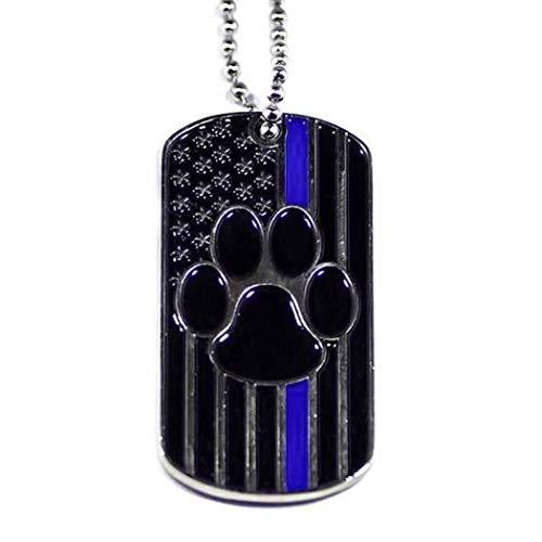 Thin Blue Line K9 Dog Tag with K9 Prayer