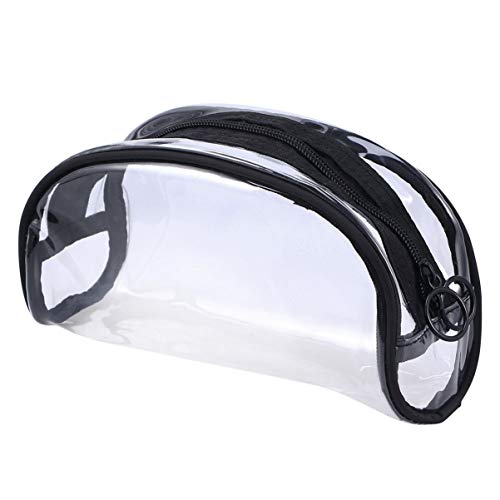 Beaupretty Cosmetic Bag Semi-Circle Makeup Pouch Clear Toiletry Bag Makeup Bags Accessories for Home Travel.