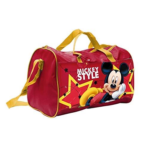 BORSA Borsone Topolino Mickey Mouse Disney Tote da Viaggio Bambino Palestra CM. 38X20 H.23 - 57886