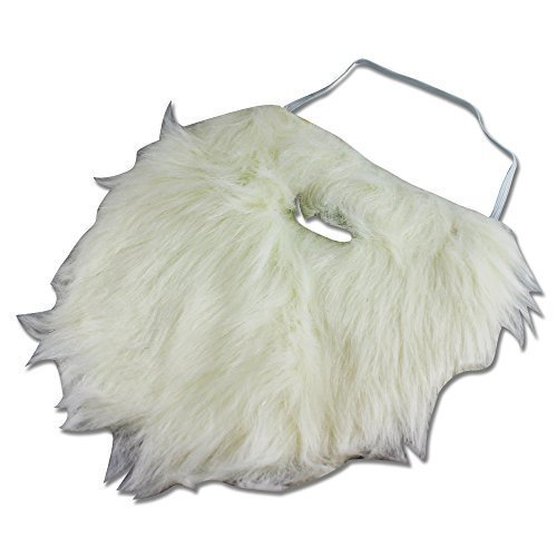 Weißer Weihnachtsmann Falscher Zwergen-Bart zum Ankleben - Kostüm für Erwachsene & Kinder - perfekt für Fasching, Karneval & Weihnachten - Universal Damen Herren thematys