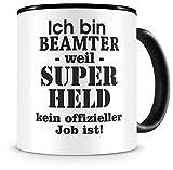 Samunshi® Ich bin Beamter Tasse Beruf Geschenk Kaffeetasse Teetasse Kaffeepott Kaffeebecher Becher Geburtstag schwarz 300ml