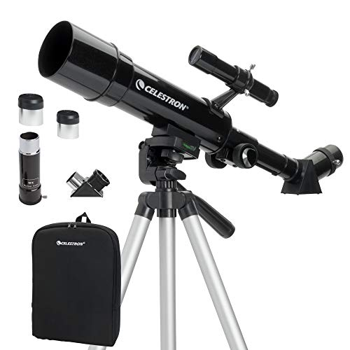 Celestron - 50mm Travel Scope - Portable Refractor Telescope - Fully-Coated Glass Optics - Ideal Telescope for Beginners - BONUS Astronomy Software Package