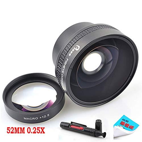 Pixco 52MM 0.25X Super Macro Wide Angle Fisheye Lens schroefdraad lens Voor Canon Fuji FX NIKON PENTAX DSLR SLR Camera met Lens cleaning papier & schoonmaken pen