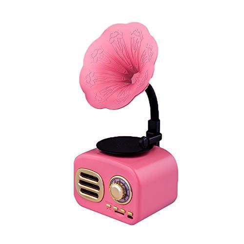 Music Machine Retro Horn Turntable Radio Wireless Stereo Retro Speaker With FM Radio Bluetooth Speaker Radio Mini Retro Phonograph Jukebox Vintage Portable Bluetooth Vintage Speaker With Bluetooth 4.1