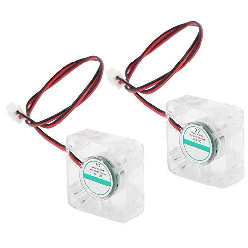 SALUTUYA Ventilador de Impresora 3D de 2 Piezas, para V6 Hotend, reemplazo de reparación de Impresora 3D, Accesorios industriales(12V)