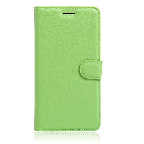 UMI Rome X Case, Mixneer Fashion Wallet Folio Sleeve Magnetic PU Flip Leather Holder Stand Soft TPU Inner Bumper Protective Case Cover for UMI Rome X - Green