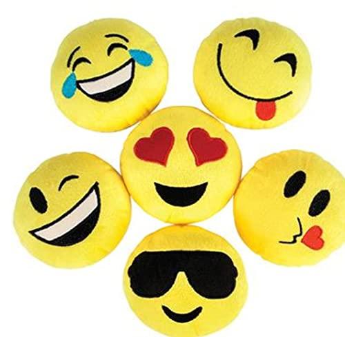 3 Plush Smiley Face Emoji Pillow 5&…