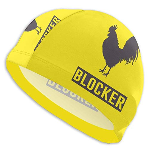 HFHY Funny Cock Rooster Blocker Adult Summer Time Beach Bath Caps for Men Women Unisex