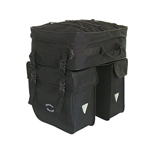 Haberland Fahrradtasche Packtaschenset 2-Tlg Einsteigermodell, Schwarz, 32 x 34 x 16 cm, 50 Liter, SET490 00