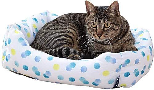 Iris Ohyama, Cama térmica para mascotas / cama cómoda para perros durante todo el año, material aislante, asiento acolchado, bordes, para gato & perro pequeño - Pet Bed Sofa PCSB-20S - Punto