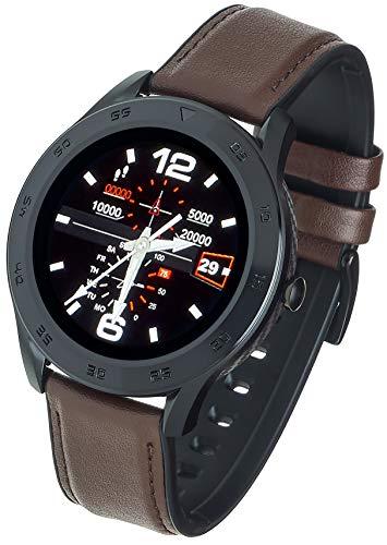 Garett Electronics Leder GT22S Smartwatch, dunkelbraune, 5903246285147
