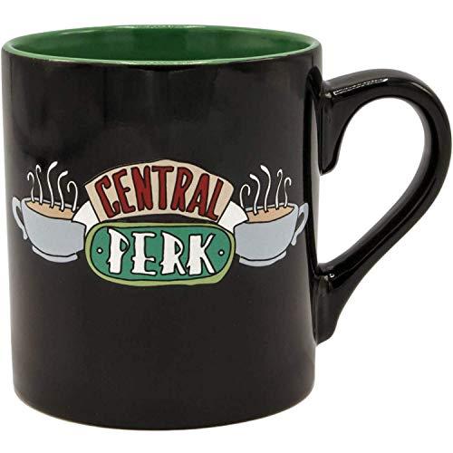 Silver Buffalo Friends Central Perk - Taza de café (cerámica, 400 ml),...