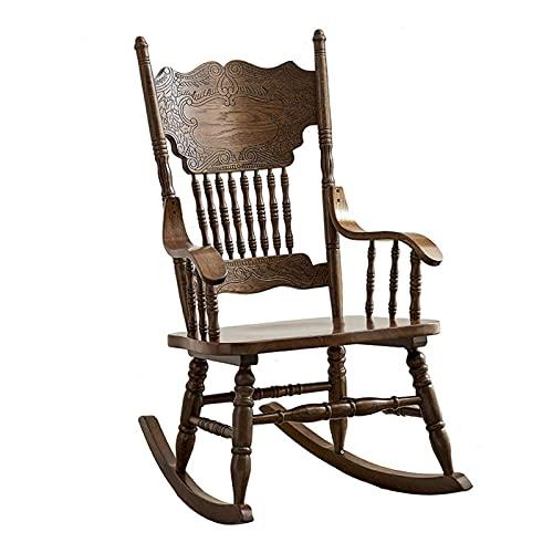 Sedia a Dondolo American Country Doccia Sedia a Dondolo Poltrona Schienale in Legno massello per Riposo Pigro, Adatto per Ufficio, studio57x81x105