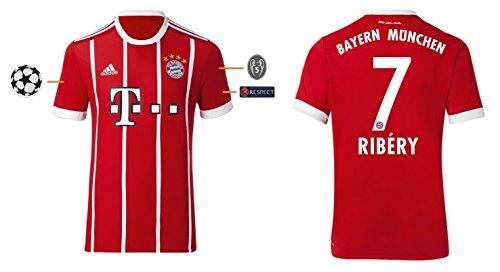 FCB Trikot Herren 2017-2018 Home UCL - Ribery 7 (L)