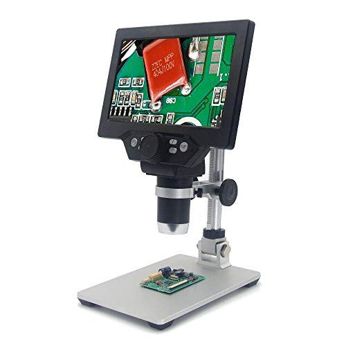CHUNSHENN Mustool G1200 Digital Microscope 12MP 7 Inch HD LCD Display 1-1200X Continuous Amplification Rotatable Magnifier