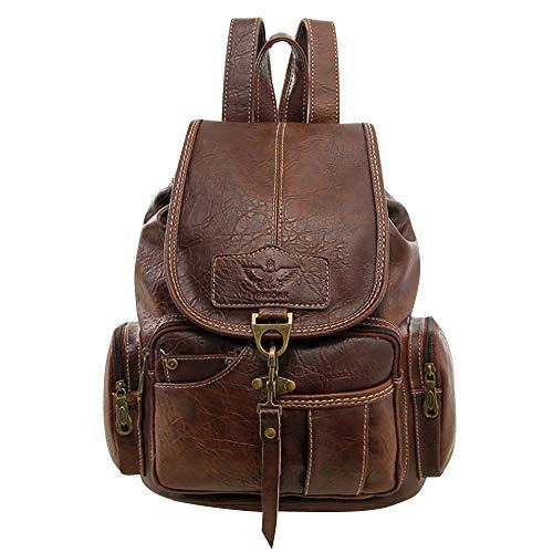 SPAHER Damen Rucksack Handtaschen Geldbörse Schulrucksäcke Mädchen Tagesrucksack Wasserdicht Diebstahlschutz Leder Schultertaschen Mädchen Tasche für Schule Reise Arbeit Kaffee