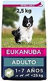 Eukanuba Alimento seco para perros adultos de razas pequeñas y medianas, rico en cordero y arroz, 2,5 kg
