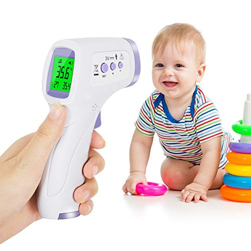 Infrarot-Thermometer für Erwachsene, berührungsloses Infrarot-Stirn-Digitalthermometer für Fieber, Familien-Thermometer, geeignet für Innen- und Außenbereich, mit sofortigem Ablesen