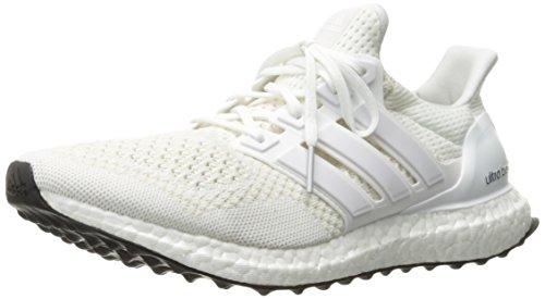 adidas Men's Ultra Boost m Running Shoe, White/Silver/Metallic, 10 M US