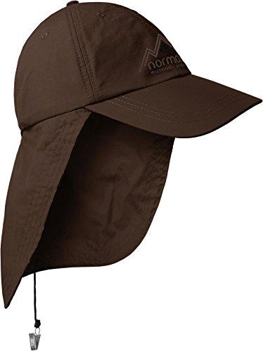 normani Safari Cap mit extra langem Nackenschutz Größenverstellbar Farbe Braun