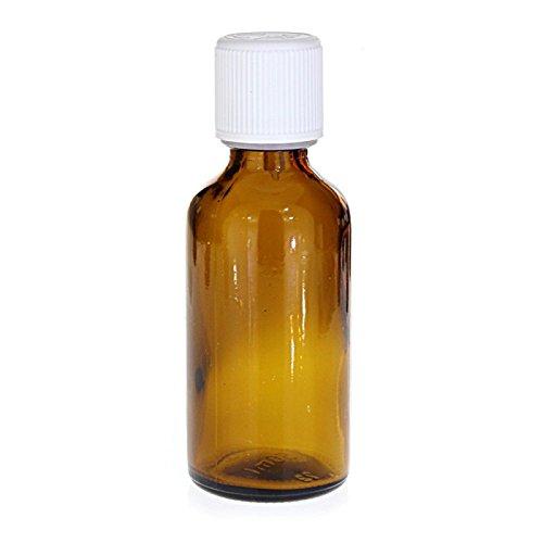 Huiles & Sens - Flacon verre brun 50 ml - 1 unité