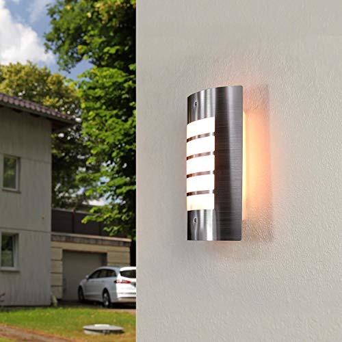 *Edelstahl Wandlampe Modern außen IP44 blendarm LYNMARK Außenleuchte Haus Hauseingang Haustür Terrasse*
