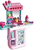 Gopinath Trade™ 4 in 1 Pretend Play Cosmetic and Makeup Set for Girls Toys Beauty Dresser Kit Table Play Set with Mirror, Hair Dryer Fashion & Makeup Accessories for Kids Girls