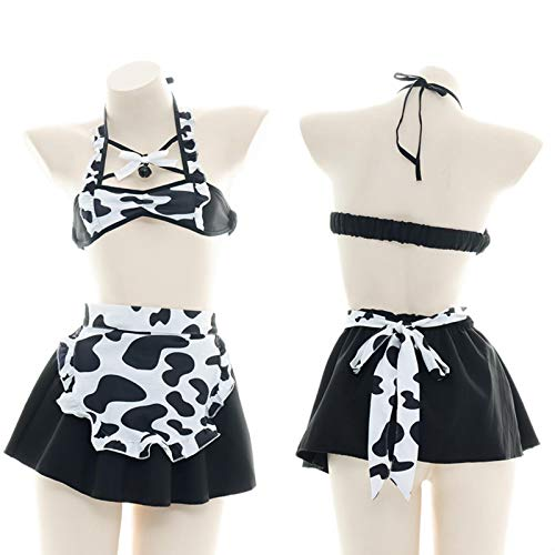 SEXYSY Seoras japonesas Lolita Kawaii Mujeres lencera Sexy mucama Juego de rol Disfraz Vaca Traje nia Uniforme Ropa Interior