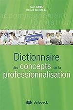 Dictionnaire des concepts de la professionnalisation d'Anne Jorro