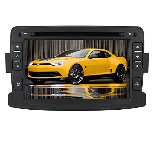 Autoradio Android 10 con navigazione GPS Bluetooth per Dacia Renault Dokker Duster Logan Sandero Dacia Renault 2012-2017, 1 Din 7 pollici Touch Screen Car DVD Player Radio