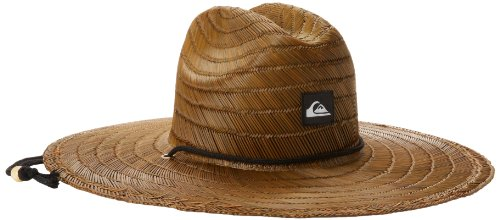 Quiksilver Men's Pierside Straw Hat, dark brown, Large/X-Large