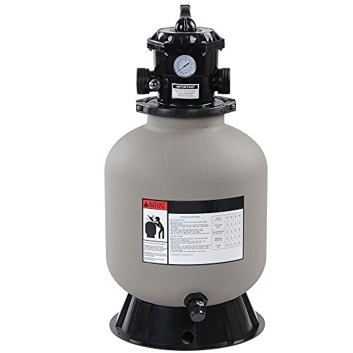 Yescom 16' Above Inground Swimming Pool Sand Filter w/Valve Fit 1/2HP 3/4HP Water Pump