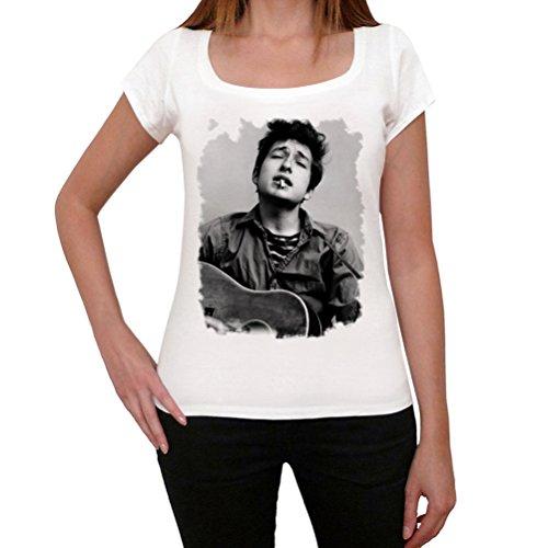 One in the City Bob Dylan Guitar, tshirt damen weiß, tshirt mit bild damen, geschenke tshirt