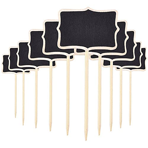 WANLIAN 10 unids Mini Pizarras de Número Señales de Tablero de Mesa Signos de Mensajes para Boda Fiesta