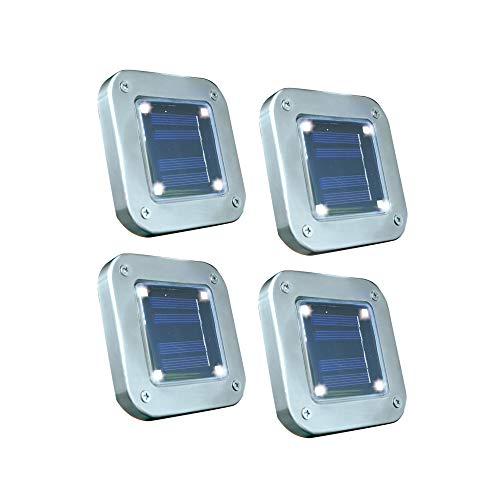 BEST DIRECT Starlyf Solar Light As seen on TV Solar Lights Outdoor with Motion Sensor – 4 Powerful LED Floor Light Original 12x12x10.5cm for Garden and Any Flat Surface