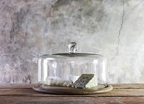 Nkuku Dôme à gâteau en verre recyclé 23 x 34 cm