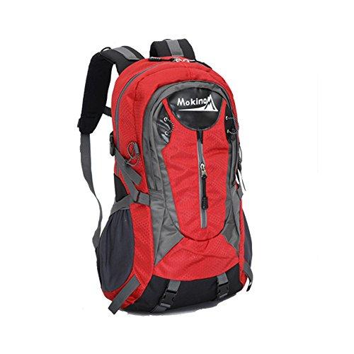 hikerway imperméable 40 Sac à dos casual sac à dos pour étudiant chasse Camping Sac à dos de voyage, Rouge