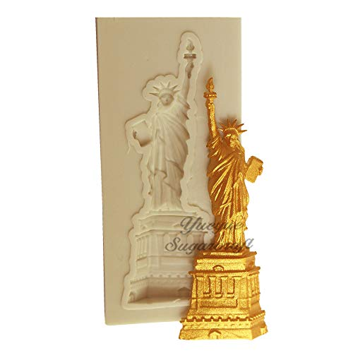 Cute Funny DIY 3D Statue of Liberty Silicone Mold Making Ice Blocks Candy Fondant Chocolates Soaps Cakes Mousse Jelly Candles