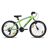 irefox Bikes Cyclone 24T -21 Speed Mountain Cycle (Green/Black) I V Brake I Ideal For : 9-12 Years I...
