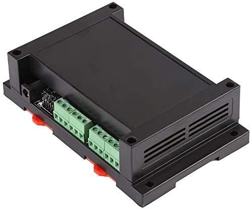 FORETTY DIANLU26 Ethernet RJ45 TCP/IP Relé Controlador de Control Remoto Servidor Web Red de 8 Canales 250 V/AC 10 A Tablero de módulo de relevo con alojamiento (Negro) Rendimiento Estable