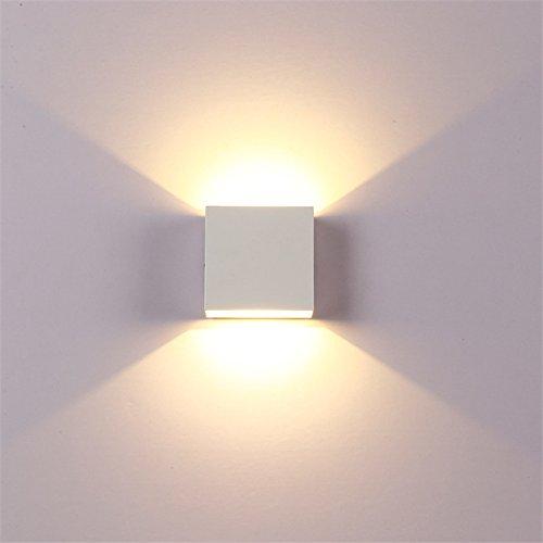 Metermall Home Verstelbare 6W LED wandlamp AC85-265V COB waterdichte aluminium kubus buiten veranda wandlamp