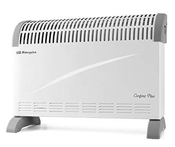 Orbegozo CV 2300 A Convector, 3 niveles de potencia, protección contra sobrecalentamiento, termostato regulable, asas de transporte, 2000 W, Blanco
