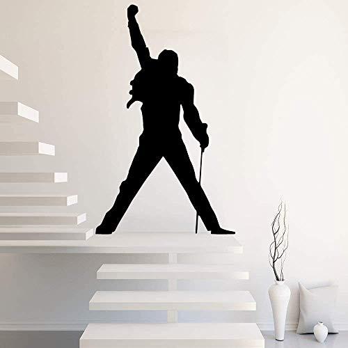 56 * 92Cm Groß Freddie Mercury Queen Band Rock Tapete Hausdekoration Wandaufkleber Für Schlafzimmer Dekor Kinderzimmer Wandtattoos