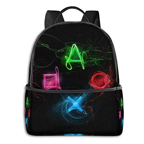 Mochila Abstract Playstation Buttons para niños y niñas, Mochila Ligera para Estudiantes