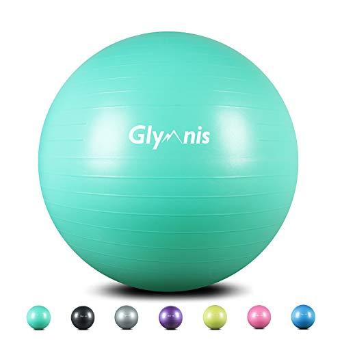 Glymnis Palla Fitness Palla da Ginnastica 55cm/65cm/75cm Anti-Scoppio Carico Massimo di 300kg, Palla...